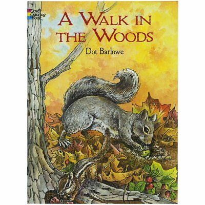 Adult Coloring Book: A Walk in the Woods Dover Nature Seasons Spring Flowers