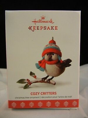 Hallmark Keepsake Ornament 2017 Cozy Critters - 1st in series NIB