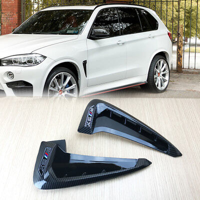 Fender Air Wing Vent Trim Carbon Look Maker For 2014-2017 BMW F15 X5