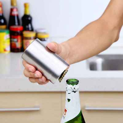 Pocket Stainless Steel Bottle Opener Automatic Push Down Soda Beer Cap Opening