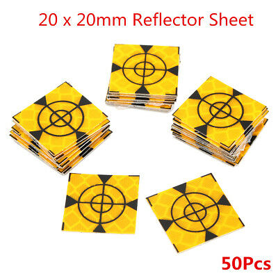 50pcs Reflecteur Sheet 20 x 20mm Reflective Tape Target Widely Used In Moteur