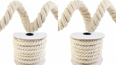 Roll 10m / 16 or 18mm Cord cord Cotton braided twisted crafting