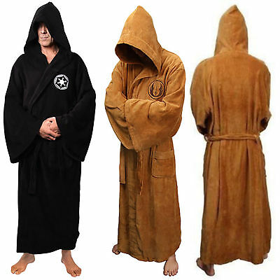 Men Star War bath Robe-Jedi Sith hooded bathrobe Cloak' Fleece Dressing gown