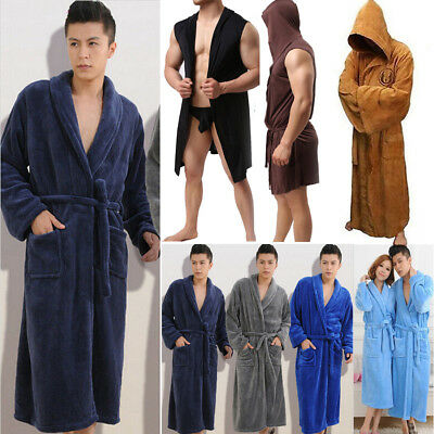 Luxury Egyptian Cotton Towelling Bath Robe Terry Towel Bathrobe Dressing Gown Au