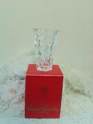Crystal Vase by Royal Brierley glass crystal vase, table decor crystal England