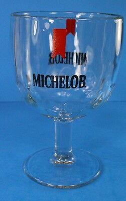 """Michelob Beer 6"""" Glass Goblet Stemmed Vintage American Brew Heavy Cup Alcohol"""