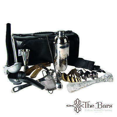 Borsa Barman Bartender Roll Luxury completa con accessori BR01MG