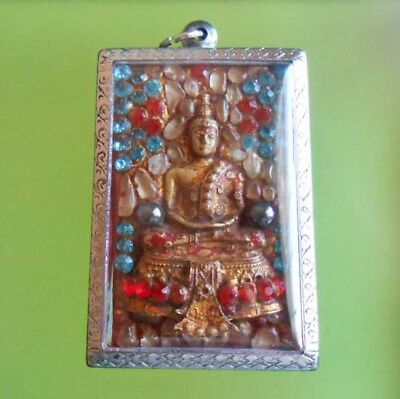 Real Perfect! Somdej Wangrhang Old Thai Amulet Very Rare !!!