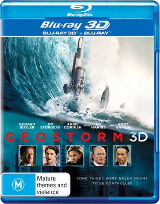 Geostorm 2D & 3D Blu-ray Region B New!