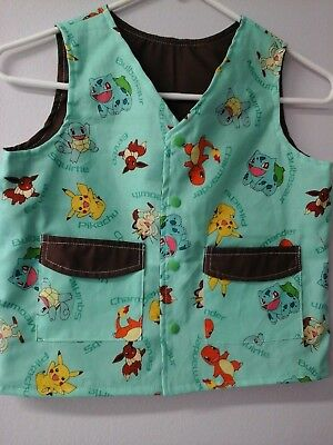 CLEARANCE-Size S Child Weighted Vest Special Needs-Sensory Issues Pokemon Print
