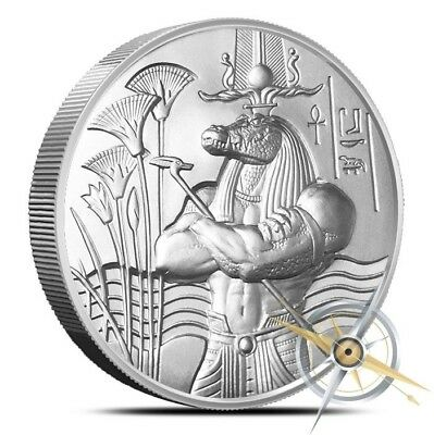 2 oz Sobek Ultra High Relief Silver - .999 Heidi Wastweet #3 of Egyptian Series