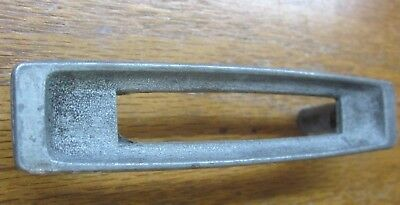 "1 vintage retro National pewter color drawer pull handle w cutout 1971 holes=3""C"