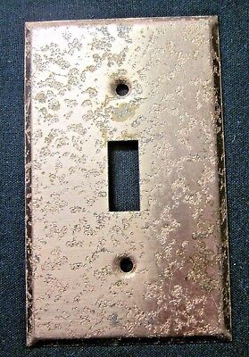 1 vintage rare Edmar Creation copper plated steel textured switch plate cover