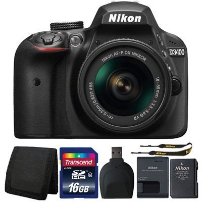 Nikon D3400 24MP DSLR Camera with 18-55mm Lens and Accessory Kit
