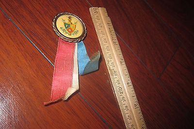 VINTAGE KNIGHTS OF PYTHIAS RIBBON MEDAL PIN BUTTON EARLY 1900s or LATE 1800s