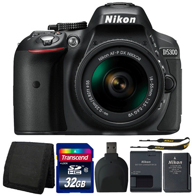 Nikon D5300 24.2MP DSLR Camera with 18-55mm Lens and Accessory Bundle