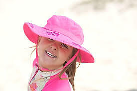Sun-Protective-Zone-Girls-Safari-Hat-UPF-50-Kids-UV-Protection-Pink-Flowers