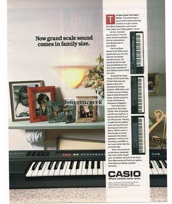 1988 Casio Tone Bank Keyboards CT 370 607 640 Vtg Print Ad