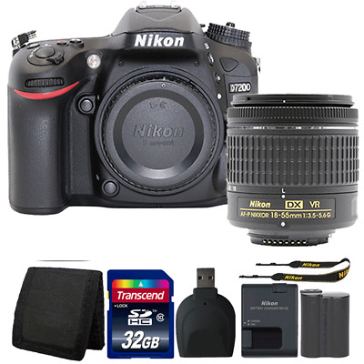 Nikon D7200 24.2MP DSLR Camera with 18-55mm Lens and Accessory Bundle