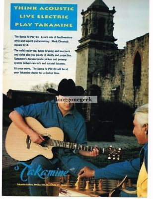 1994 Takamine Electric-Acoustic Guitar Mark Chestnutt  Magazine Ad