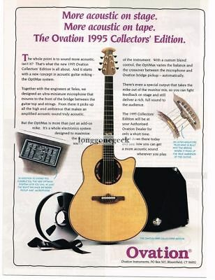1995 Ovation Acoustic-Electric Guitars Magazine Ad