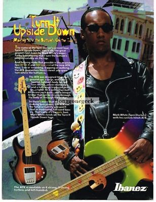 1995 Ibanez Electric Bass Guitar Mark White Spin Doctors Magazine Ad