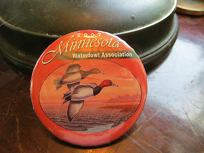 2007 Minnesota Waterfowl Association button, advertising, club, ducks