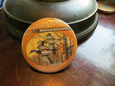 1999 Minnesota Waterfowl Association button, advertising, club, wood ducks