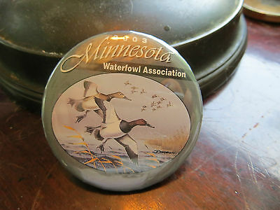 2003 Minnesota Waterfowl Association button, advertising, club, ducks