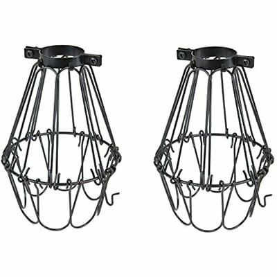 Set Of Industrial Vintage Style Black Hanging Pendant Light Fixture Metal Wire