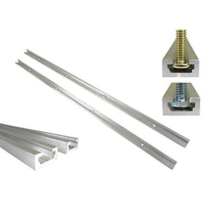 """Lot Jig Accessories Each, 36"""" Aluminum Track 3/4"""" By 3/8"""" Slot, Accepts 1/4"""" Hex"""