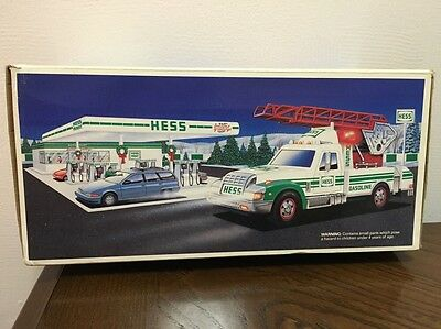 NEW 1994 HESS TOY RESCUE TRUCK New in box never opened