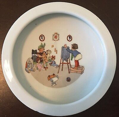 Vintage Germany 229 Porcelain Child's Baby Feeding Dish Bowl ABC Lithograph
