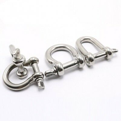 M4-M16 Heavy Duty Shackle Buckle 304 Stainless Steel Shackle D-Shaped/ U-Shaped