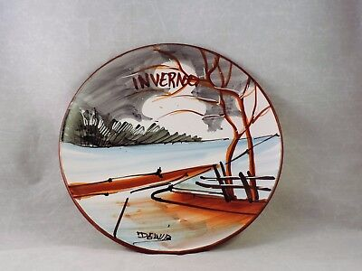 "Italian Ceramic Hanging Wall Plate - ""Inverno"" (Winter)"