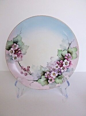 Vintage J & C Bavaria Hand Painted Plate Floral Pattern Collectible Shabby Decor