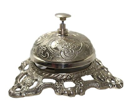 Antique Brass Hotel Counter Desk Bell Style Ring For Service Ding Bells