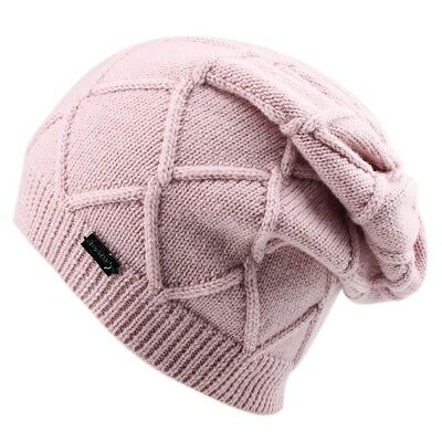 ee124b43d468bd New Winter Cashmere Wool Hat For Women Knit Slouchy Beanie Hats Designed  Pink