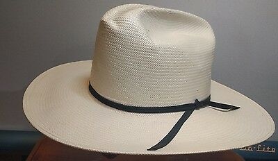 NEW RESISTOL Men's self conforming Cowboy Western Hat 7 1/4 Straw NATURAL USA