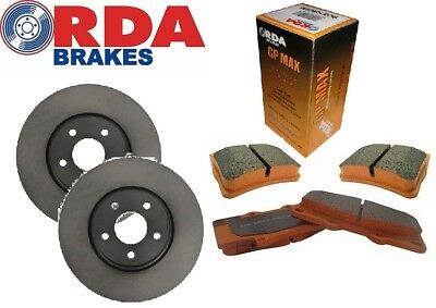 RDA FRONT ROTORS & BRAKE PADS suit FORD TERRITORY TS & TX GHIA 2WD/4WD  322mm