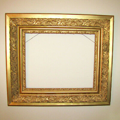 "Large Frame, Ornate Gilt Gesso Rococo Style 24"" x 30"" Antique"