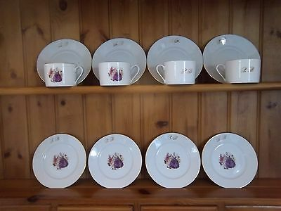 Limoges Teaset For 4  With Insignia And Dancing Couples