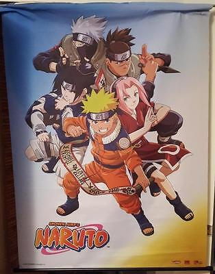 "44"" x 32"" Shonen Jump's Naruto 2002 Nylon Display Banner Large And Clean Taiwan"
