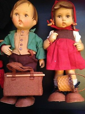 Vintage M.J.Hummel Goebel of Germany. 1960-70's Lot of 2 German dolls (RARE)