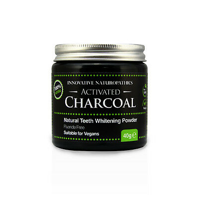 Activated Charcoal Powder - Natural Teeth Whitener - 40g Glass Jar