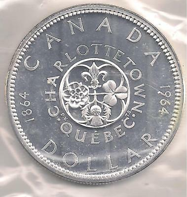 Canada 1964 PL Silver Dollar. First Strike, Grade Condition. { 80 % Silver.}