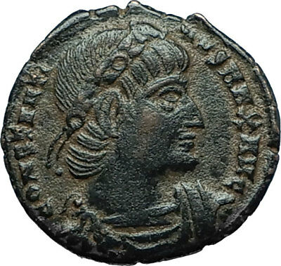 CONSTANTINE I the GREAT 330AD Authentic Ancient Roman Coin w SOLDIERS i66321