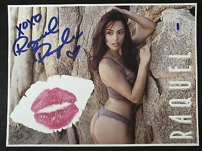 "Raquel Pomplun 4 1/2"" X 6"" Kiss Card Purple Lingerie"
