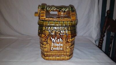 Vintage McCoy Pottery Wishing Well Cookie Jar WISH I HAD A COOKIE USA