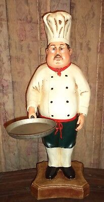 Chef Statue - Cook Statue - Restaurant - Chef Statue with Skillet Pan